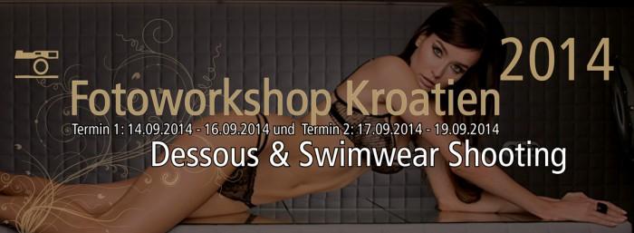 Dessous und Swimwear Fotoworkshop Kroatien 2014 Header